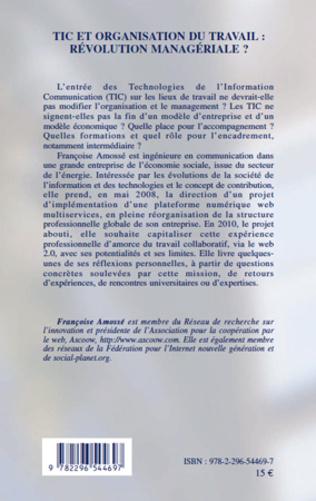 4eme TIC et organisation du travail : révolution managériale ?