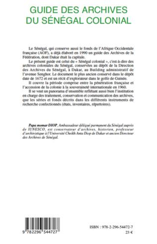 4eme Guide des archives du Sénégal colonial