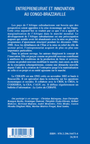 4eme ENTREPRENEURIAT ET INNOVATION AU CONGO BRAZZAVILLE