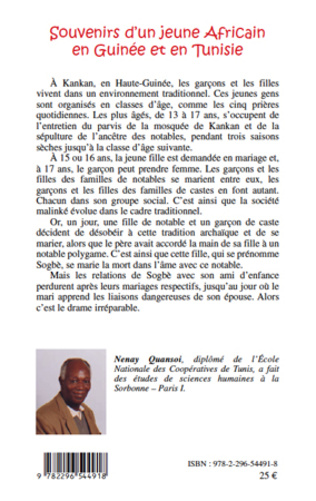 4eme SOUVENIRS D'UN JEUNE AFRICAIN EN GUINEE ET EN TUNISIE