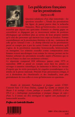 4eme Les publications françaises sur les prostitutions