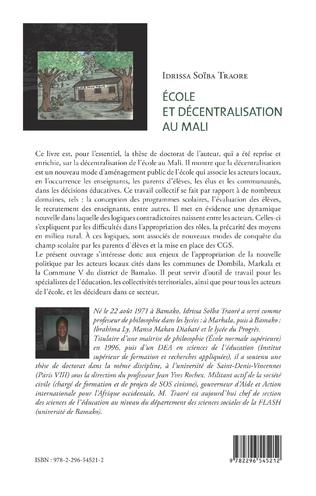 4eme Ecole et décentralisation au Mali