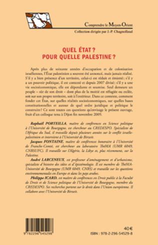 4eme Quel état ? Pour quelle Palestine ?