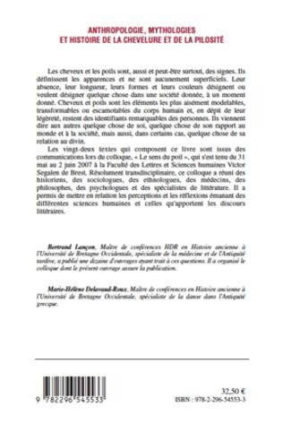4eme Anthropologie, mythologies et histoire de la chevelure et de la pilosité
