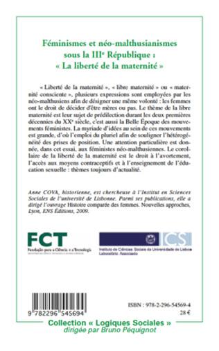 4eme Féminismes et néo-malthusianismes sous la IIIe République :