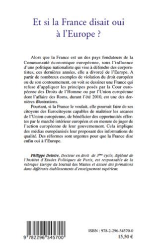4eme Et si la France disait oui à l'Europe