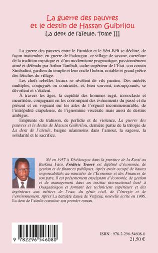 4eme GUERRE DES PAUVRES (T 3) ET LE DESTIN DE HASSAN GUIBRILOU