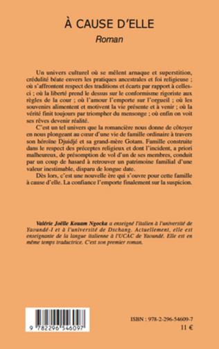 4eme A CAUSE D'ELLE   ROMAN