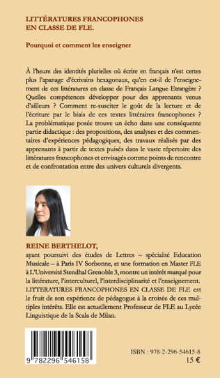 4eme Littératures francophones en classe de FLE
