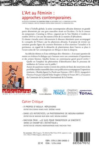 4eme L'Art au Féminin : approches contemporaines