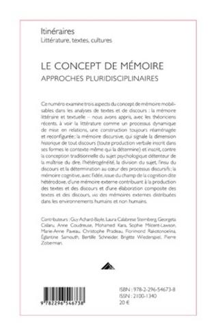 4eme Le concept de mémoire