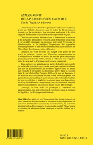 4eme Analyse genre de la politique fiscale au Maroc