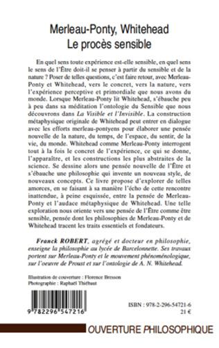 4eme Merleau-Ponty, Whitehead, le procès sensible