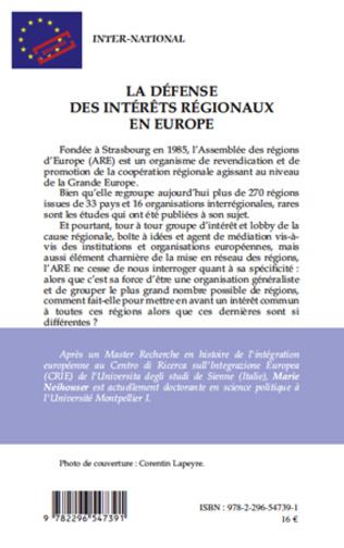 4eme La défense des intérêts régionaux en Europe