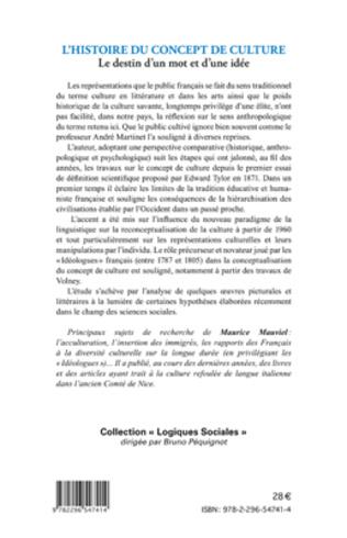 4eme L'histoire du concept de culture