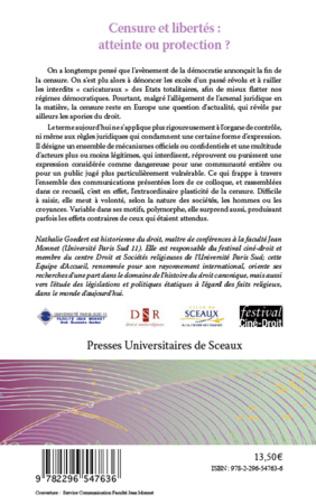 4eme Censure et libertés : atteinte ou protection ?
