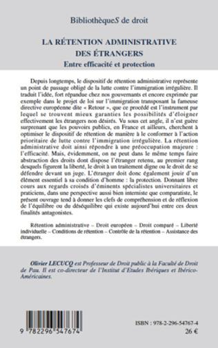 4eme La rétention administrative des étrangers