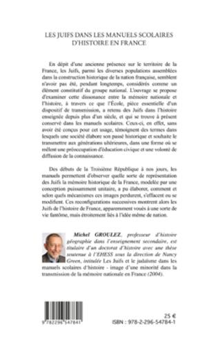 4eme Les Juifs dans les manuels scolaires d'histoire en France