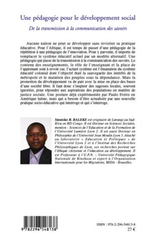 4eme Une pédagogie pour le développement social