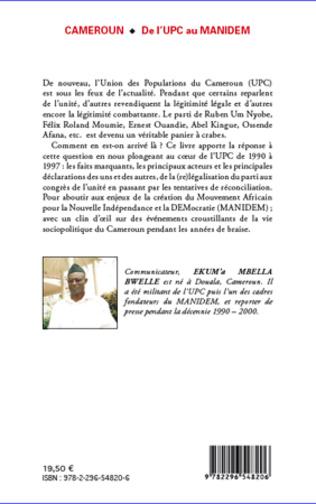 4eme Cameroun De l'UPC au Manidem