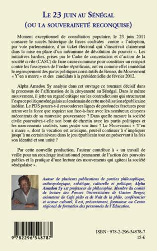 4eme Le 23 juin au Sénégal (ou la souveraineté reconquise)