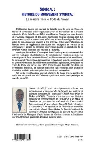 4eme Sénégal : histoire du mouvement syndical