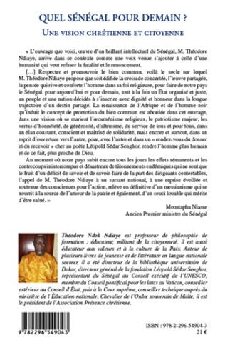4eme Quel Sénégal pour demain ?