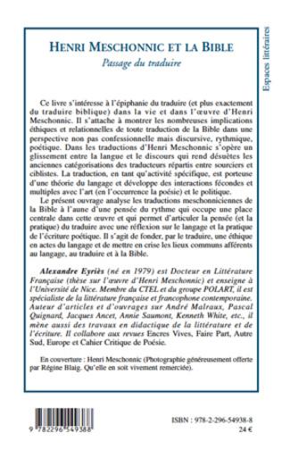 4eme Henri Meschonnic et la Bible