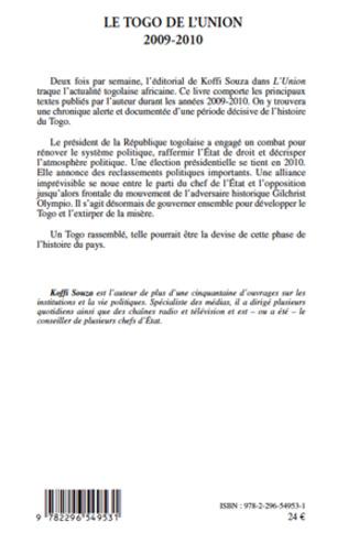 4eme Le Togo de <em>l'Union</em>