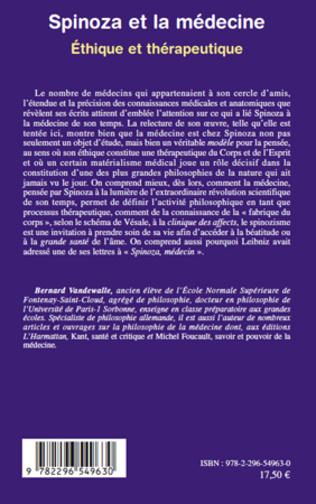 4eme Spinoza et la médecine