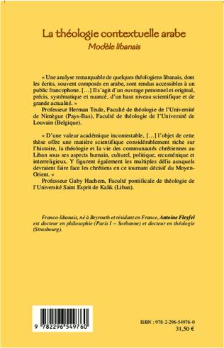 4eme LA THEOLOGIE CONTEXTUELLE ARABE