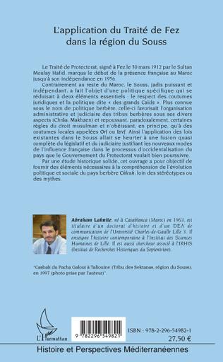 4eme L'application du Traité de fez dans la région de Souss