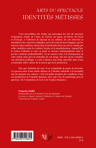 4eme ARTS DU SPECTACLE IDENTITES METISSES