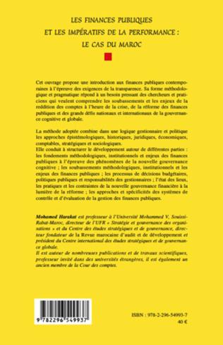 4eme Les finances publiques et les impératifs de la performance : le cas du Maroc