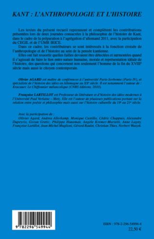 4eme Kant : l'anthropologie et l'histoire