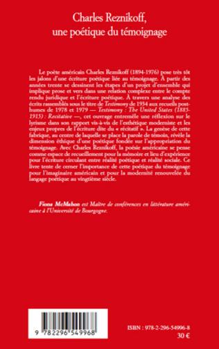 4eme Charles Reznikoff une poétique du témoignage
