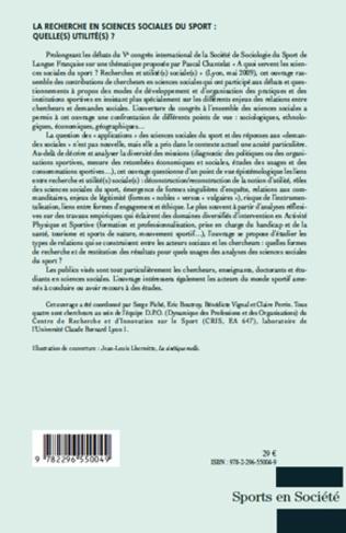 4eme La recherche en sciences sociales du sport: Quelle(s) utilité(s) ?