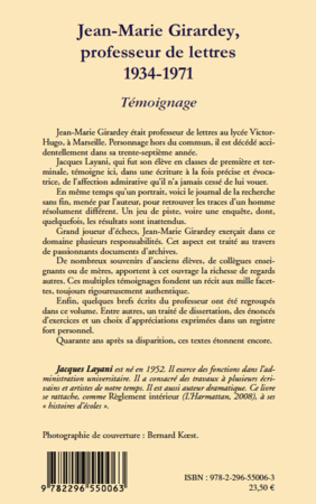4eme Jean-Marie Girardey, professeur de lettres