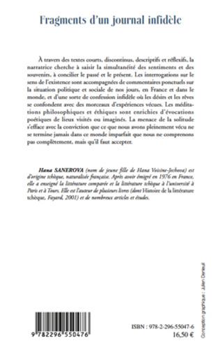 4eme FRAGMENTS D'UN JOURNAL INFIDELE