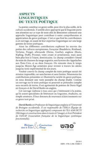4eme Aspects linguistiques du texte poétique