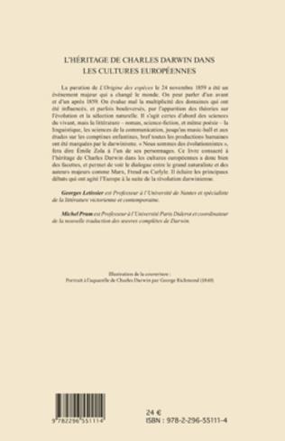 4eme L'Héritage de Charles Darwin dans les cultures européennes