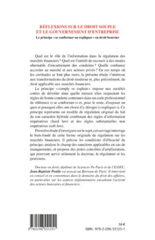 4eme Réflexions sur le droit souple et le gouvernement d'entreprise