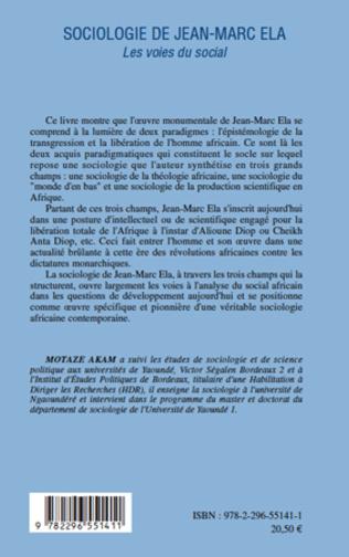 4eme Sociologie de Jean-Marc Ela. Les voies du social