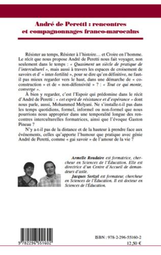 4eme André de Peretti : rencontres et compagnonnages franco-marocains