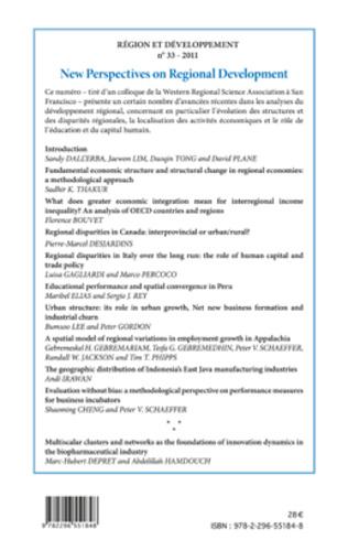 4eme New Perspectives on Regional Development