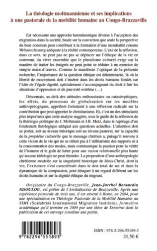 4eme La théologie moltmannienne et ses implications à une pastorale de la mobilité humaine au Congo-Brazzaville