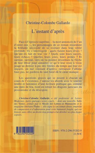 4eme L'INSTANT D'APRES ROMAN