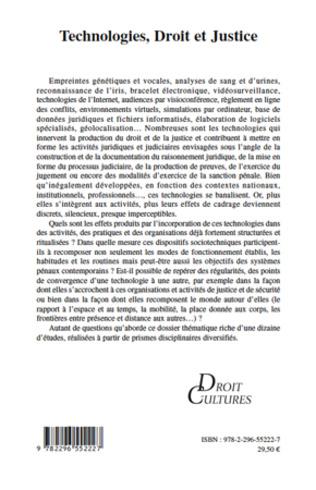 4eme Technologies, Droit et Justice