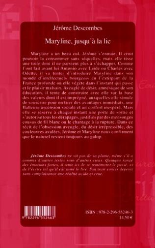 4eme MARYLINE JUSQU'A LA LIE   ROMAN
