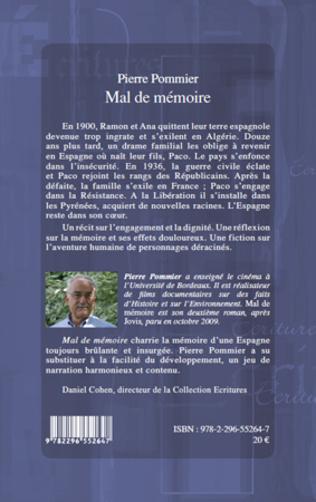 4eme MAL DE MEMOIRE   ROMAN